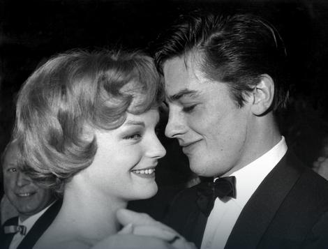 Alen Delon i Romi Šnajder 1959.