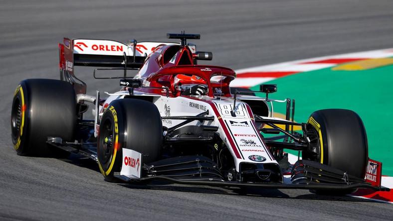 Robert Kubica w bolidzie ekipy Alfa Romeo