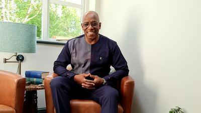 Ghanaian designer Kwaku Bediako styles Arsenal legend Ian Wright