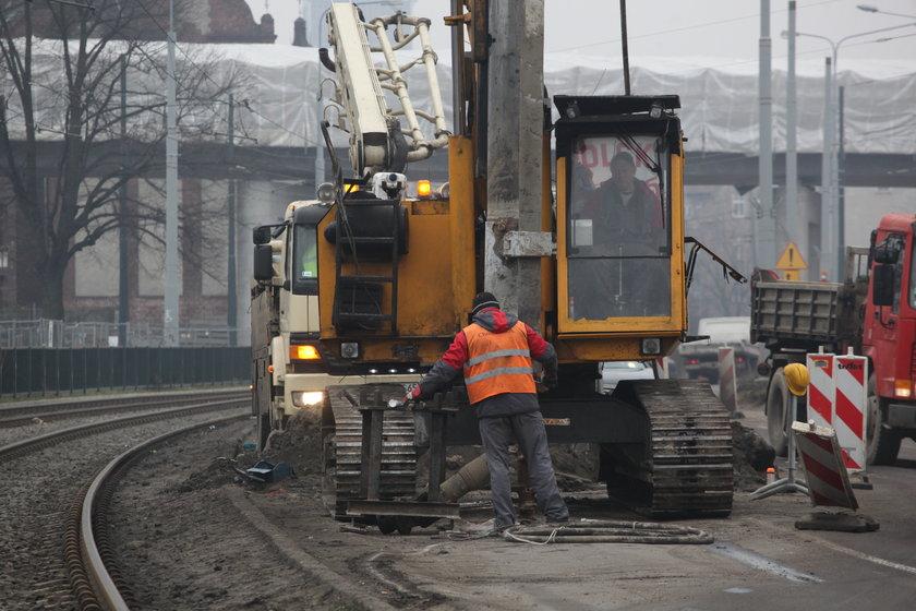 Maszyny na budowie w Gdańsku