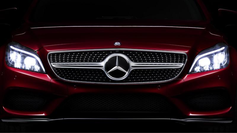 Światła Multibeam LED w samochodzie Mercedes CLS