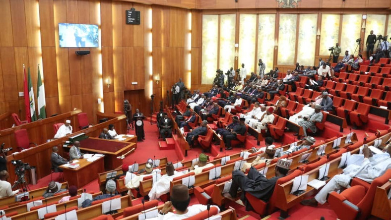 Nigerian Senate during plenary during the 8th assembly [Twitter/NGRSenate]