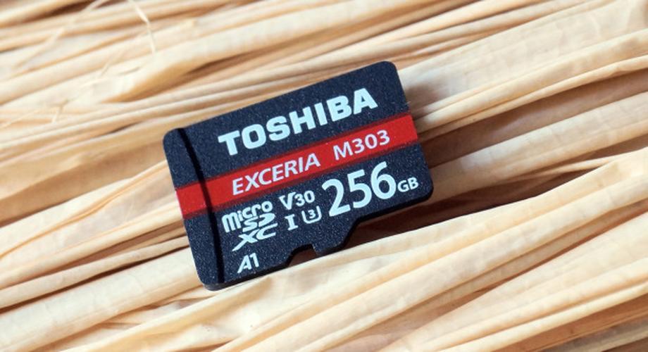 Micro-SD-Karte Toshiba Exceria M303 256 GByte im Test
