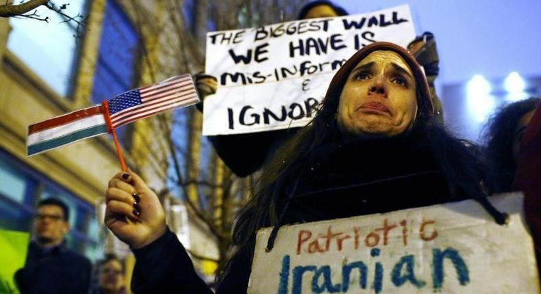 Members of the Iranian-American community have expressed shock and disbelief at President Donald Trump's travel ban, saying it would tear families apart and tarnish America's image abroad