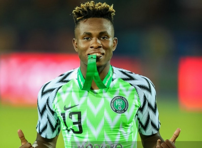 Samuel Chukwueze scored one goal as Nigeria won the bronze medal of AFCON 2019 (Moodzero/Instagram)