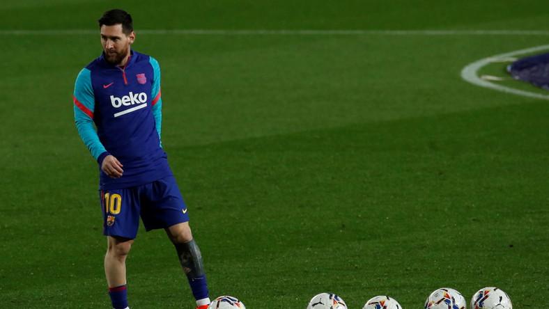 Leo Messi przed meczem z Hueską