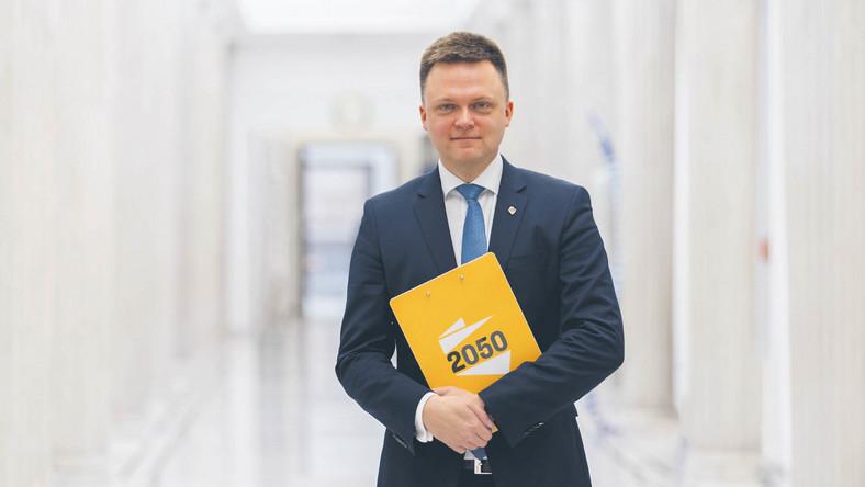 Szymon Hołownia lider ruchu Polska 2050. Kandydat na prezydenta w wyborach w 2020 r. Dziennikarz, publicysta, prezenter telewizyjny, społecznik