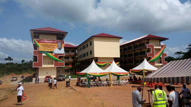 Eastern Regional tour Mahama commissions Takrowase Community Day SHS