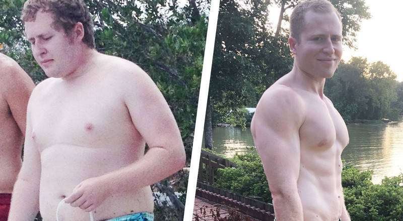 Cutting Back On Fast Food Helped this Guy Drop 85 Pounds and Get Ripped