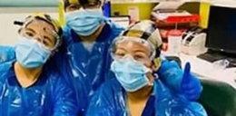 Pielęgniarki musiały założyć worki na śmieci zamiast odzieży ochronnej. Teraz mają koronawirusa