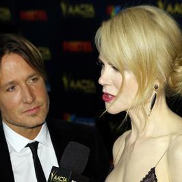 Nicole Kidman z mężem na ściance. Keith Urban też pokochał botoks?