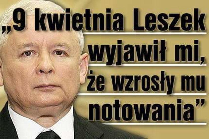 """""""9 kwietnia Leszek wyjawił mi, że wzrosły mu..."""""""