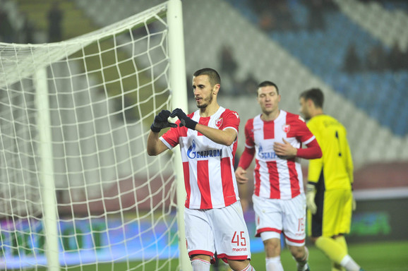 Aleksandar Pešić dok je igrao za Crvenu zvezdu