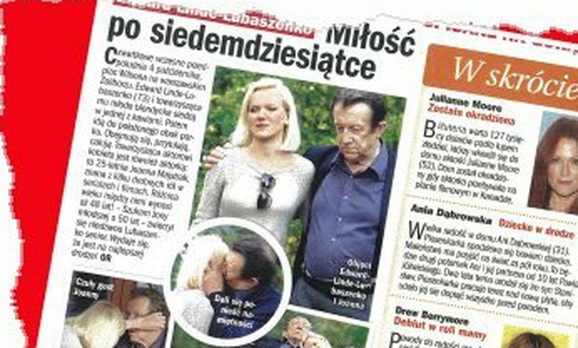 Edward Linde-Lubaszenko i Joanna Majstrak razem
