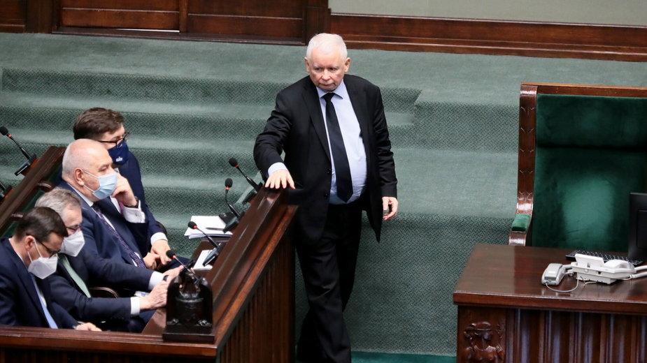 Jarosław Kaczyński w Sejmie. 23.06.2021 r.