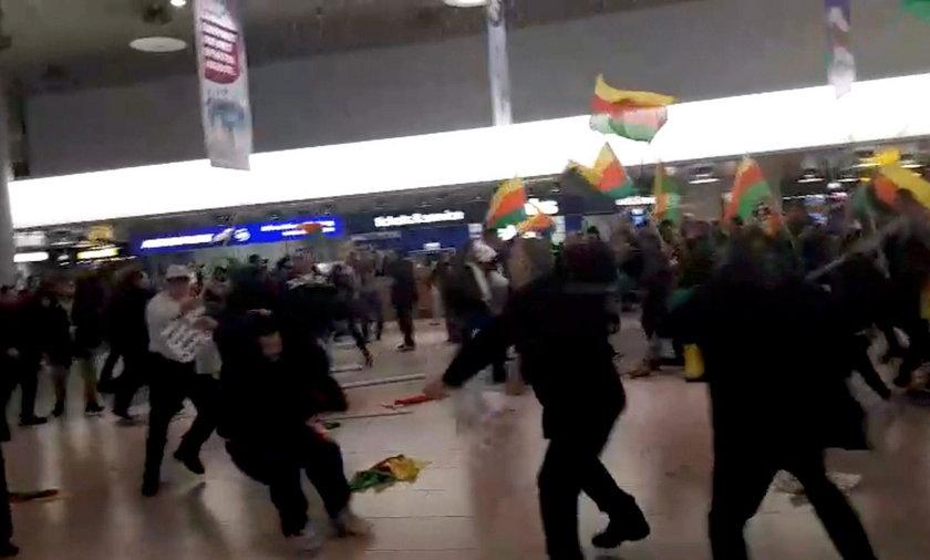 Masowa bijatyka na lotnisku w Hanowerze