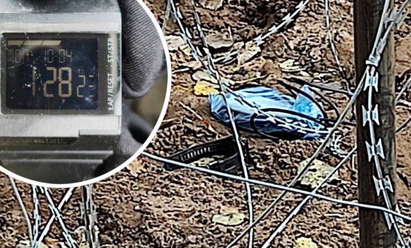 Pogranicznicy znaleźli atrapę bomby.