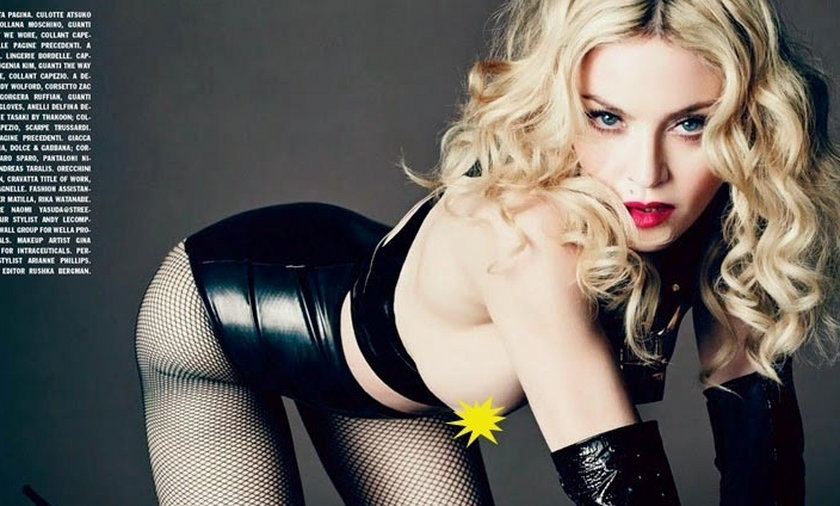 Madonna pokazuje piersi