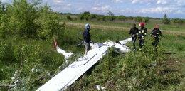 Rozstrzaskał się szybowiec. Pilot cudem ocalał