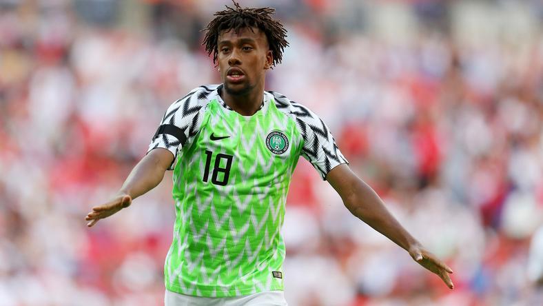 Alex Iwobi playing for Nigeria in 2018 [Sporting News]