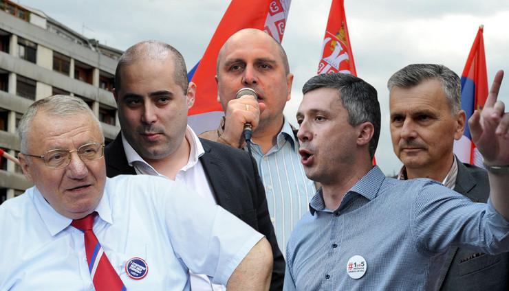 politicari KOMBO RAS Mitar Mitrovic, Milos Cvetkovic, Kostadin Kamenov, Milan Ilic, Nebojsa Raus