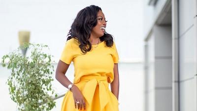 Boss Lady! Nana Aba Anamoah teaches us how to look stylish in yellow this season