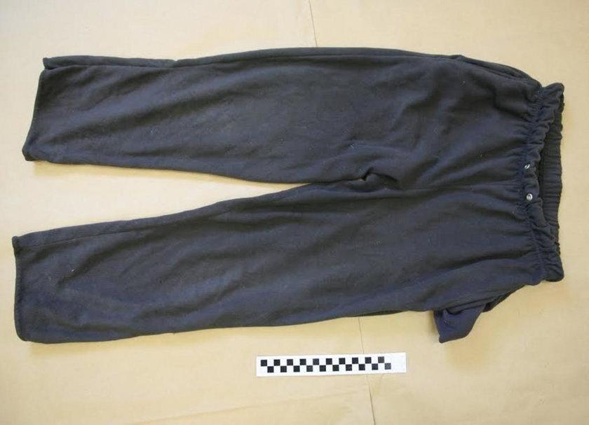 Spodnie poszkodowanej