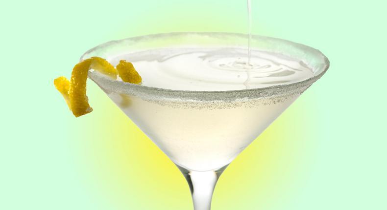 Lemon drop cocktail (Chowhoud)