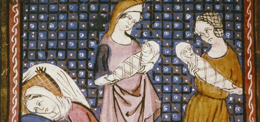"""Cesarskie cięcie na żywca, """"wypłaszanie macicy z głowy"""" i woda, w której mył się morderca. Jak wyglądała ginekologia i porody w średniowieczu?"""