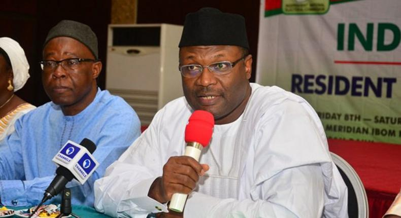 INEC Chairman Prof. Mahmood Yakubu says the 74 political parties did not meet requirement. (ChannelsTV)