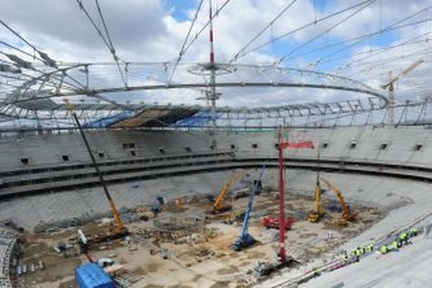 Stadion Narodowy w Warszawie w budowie. Fot. Newspix
