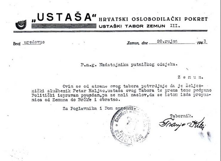 Petar Holjac, Ustaše