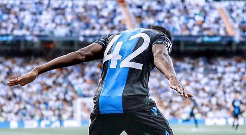 Club Brugge forward Emmanuel Dennis says he did the 'Ronaldo' celebration to mock Real Madrid fans over the exit of the 5-time Ballon d'Or winner