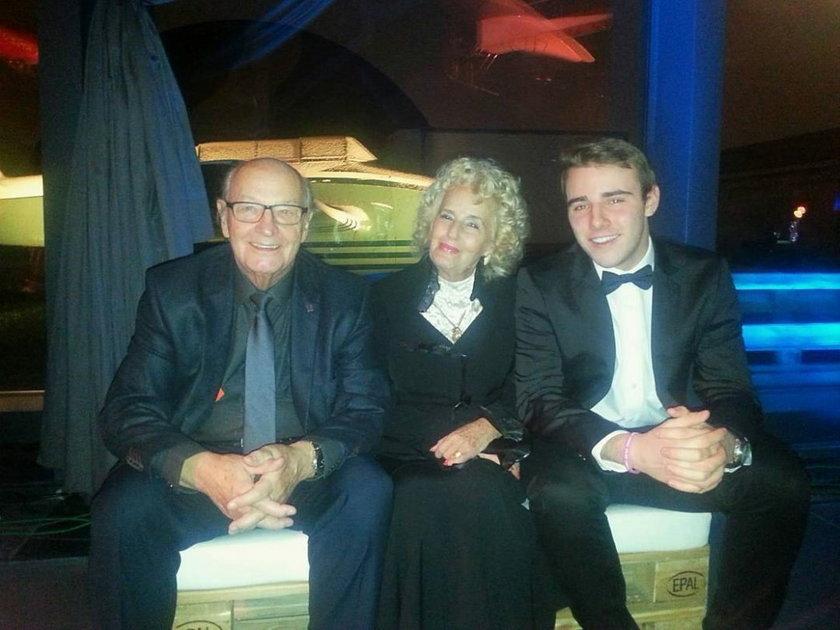 Krystian Ochman i Wojciech Ochman z żoną