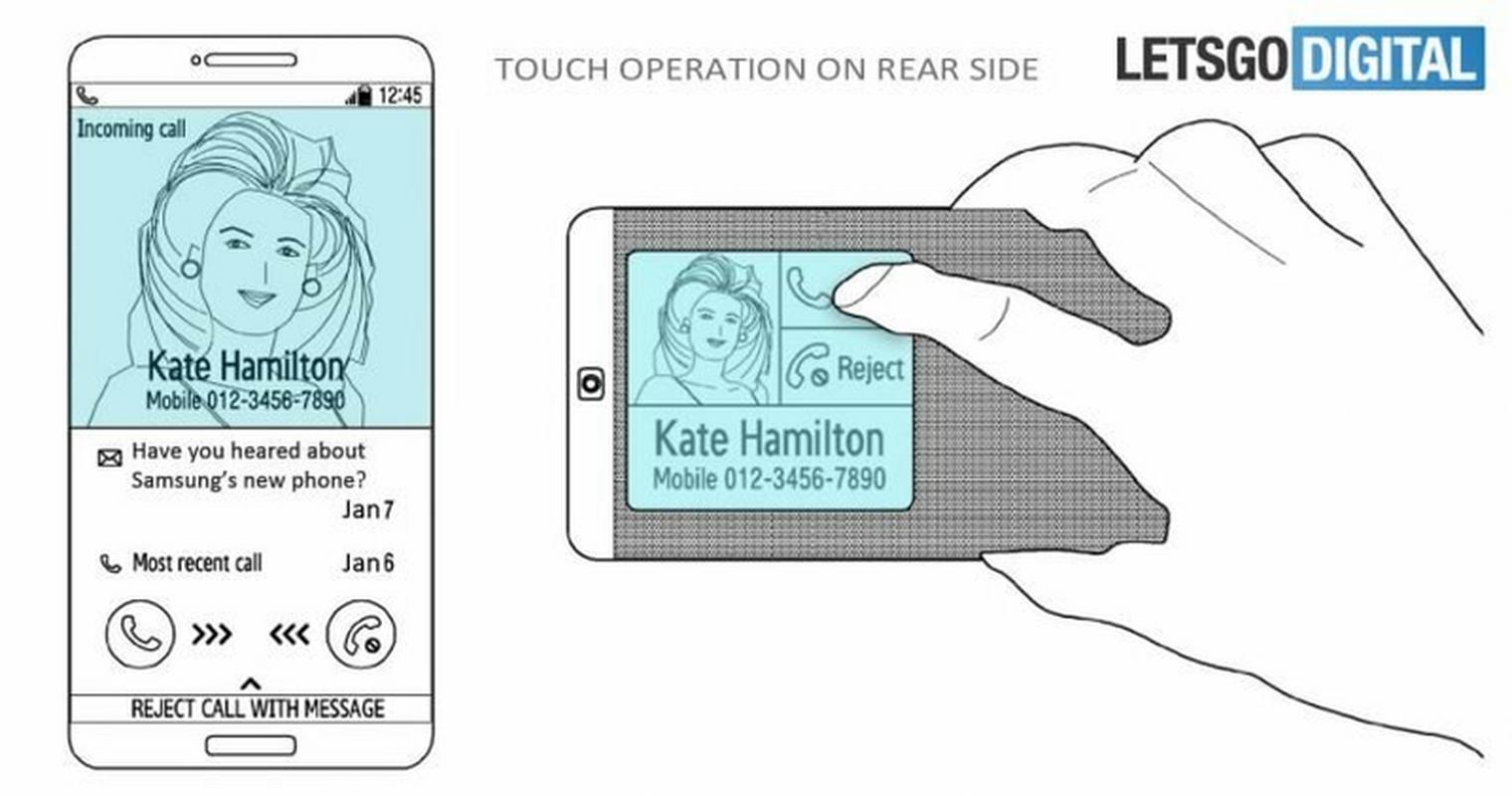 Drugi projekt to telefon z ekranem na tylnym panelu z wbudowanymi czujnikami