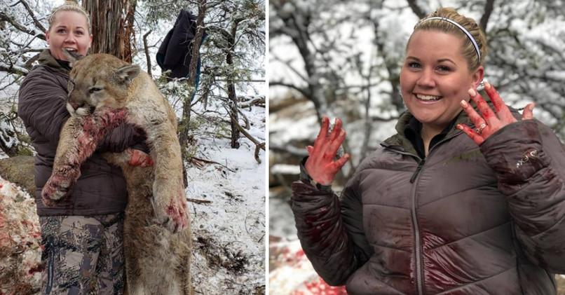 Žena sa tešila zo zabitej pumy.