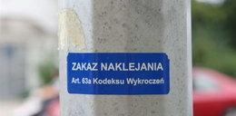 Naklejki o zakazie naklejania zaśmiecąją Poznań
