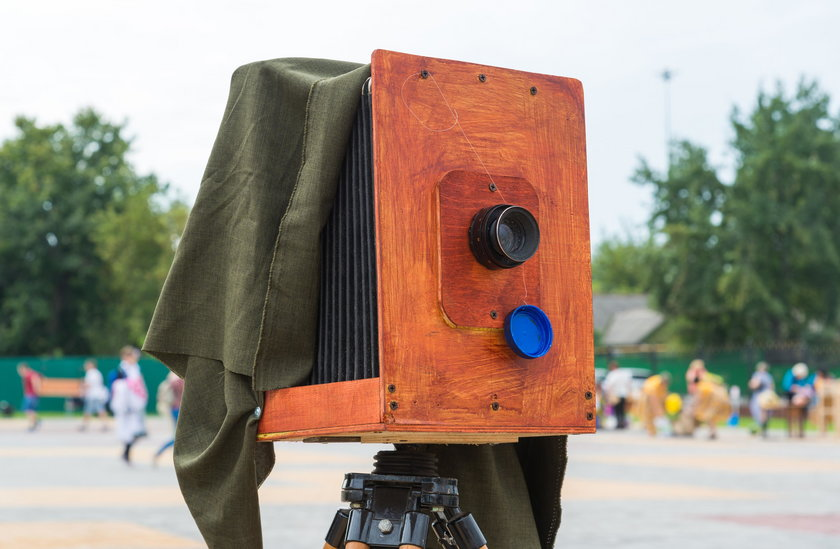 The old camera on street