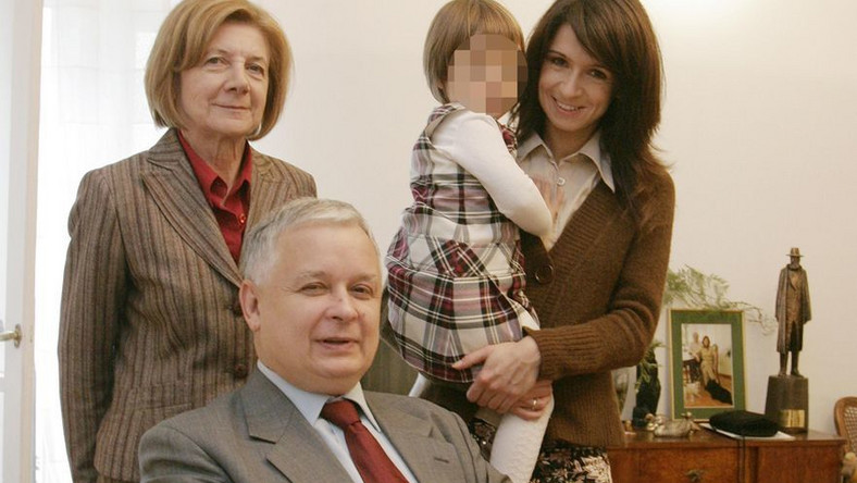 Marta Kaczyńska z rodziną