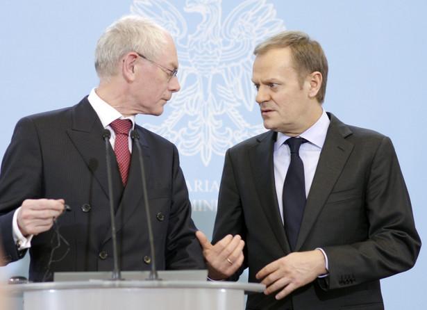 Premier Donald Tusk i szef Rady Europy Herman van Rompuy.