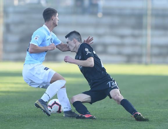 Detalj sa meča FK Rad - Partizan