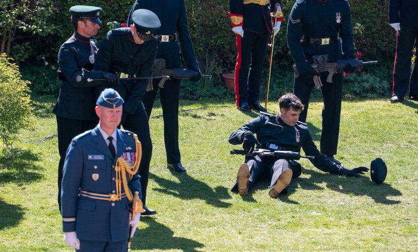 Niepokojące sceny na pogrzebie księcia Filip