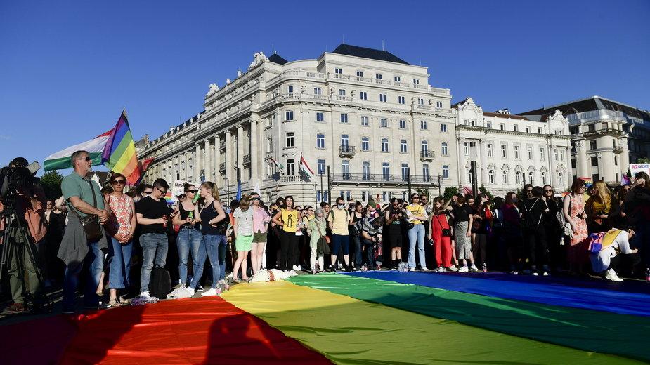 Budapeszt. Protest przeciwko nowemu prawu na Węgrzech