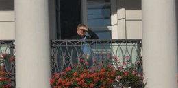 Prezydent na tarasie wypatruje...