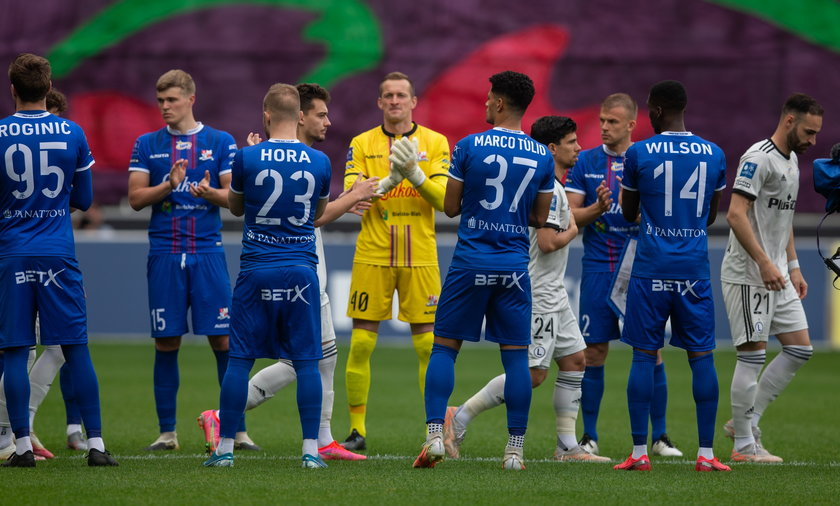 Piłkarze Podbeskidzia zrobili szpaler mistrzom Polski, względem swoich kolegów mieli mniej szacunku