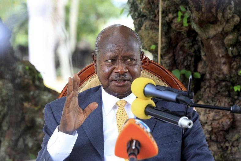 Uganda President Yoweri Museveni during a past address at his country home in Rwakitura (Reuters)