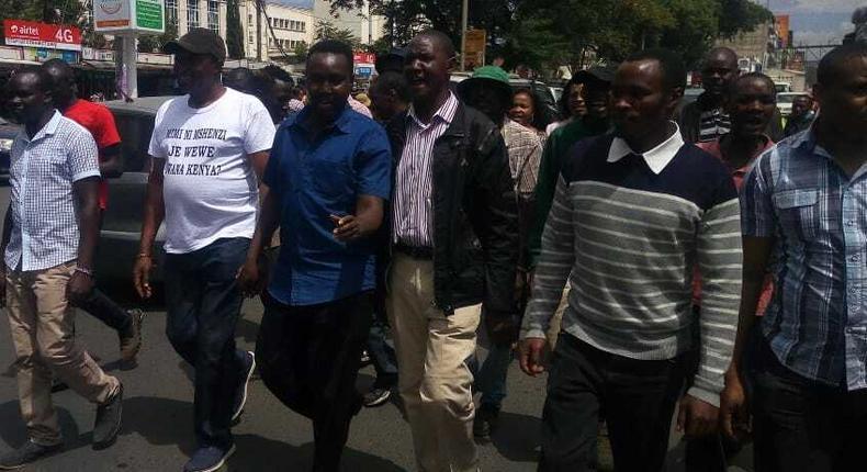 Bahati MP Kimani Ngunjiri leads demonstrations against Uhuru's washenzi comment