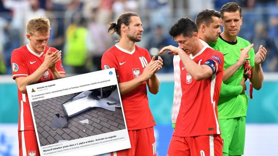 Kościan: Nie wytrzymał po meczu Polska-Szwecja. Telewizor wyleciał przez okno