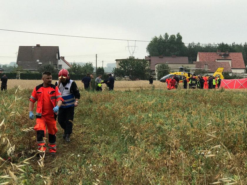 Katastrofa śmigłowca koło Opola. Dwie osoby nie żyją