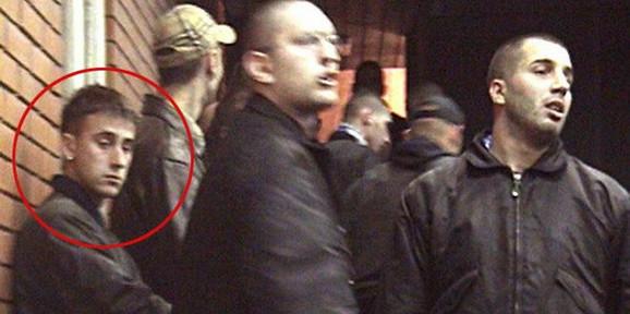 Vrselja, prvi sa leva, u krugu i Goran Davidović Firer u sredini